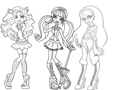 Colorear a las Monster High gratis