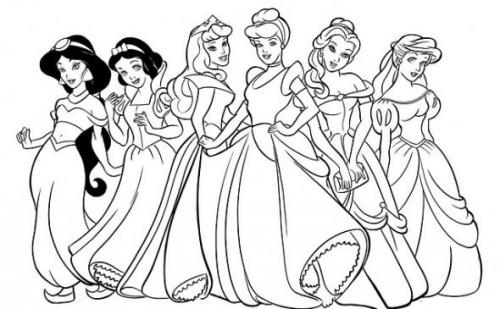 Colorear a las princesas gratis.