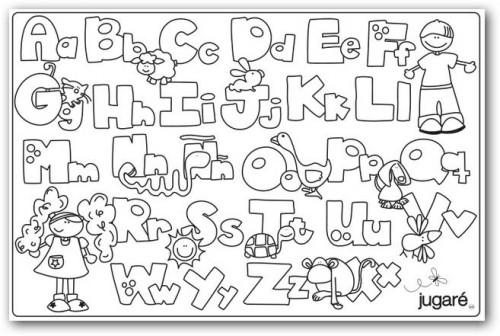 Colorear el abecedario gratis