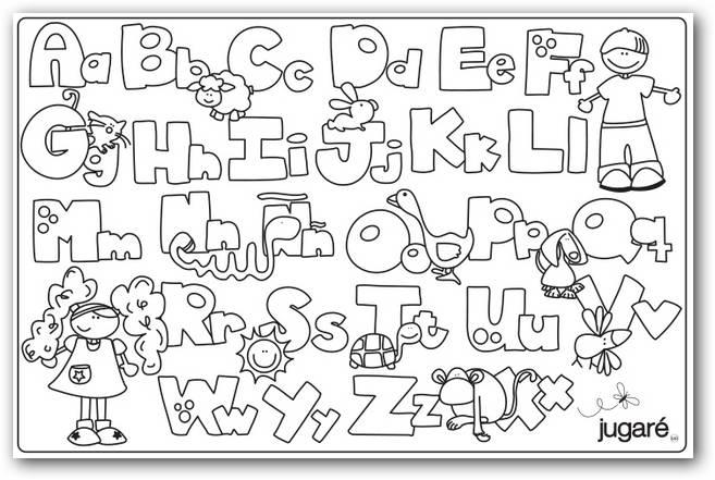Dibujos Para Colorear Letras Disney: Colorear El Abecedario