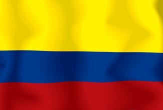 Colorear la bandera de colombia en casa