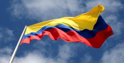 Colorear la bandera de colombia online