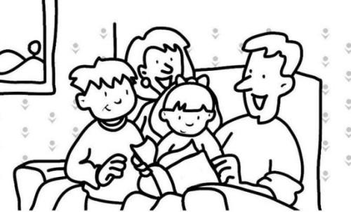 Colorear la familia
