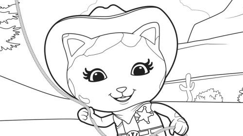 Colorear la sheriff callie en pocos pasos