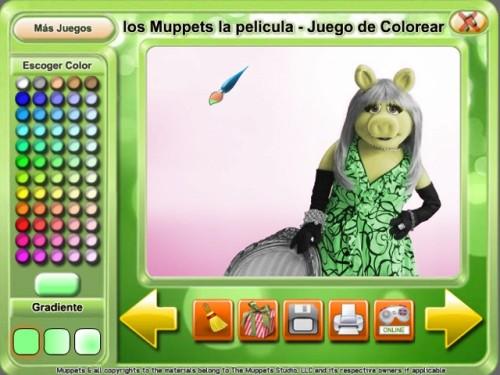 Juegos de colorear a los Muppets online