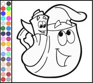 Juegos de colorear y pintar princesas en casa