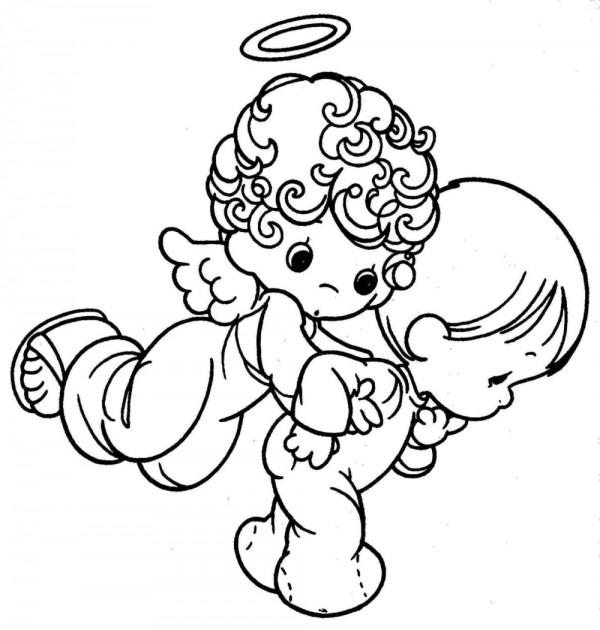 Dibujos de angelitos bebés para colorear - Imagui