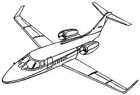 avión para colorear