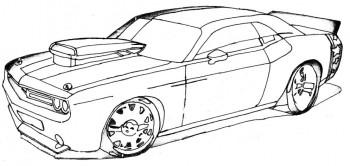 carro para colorear