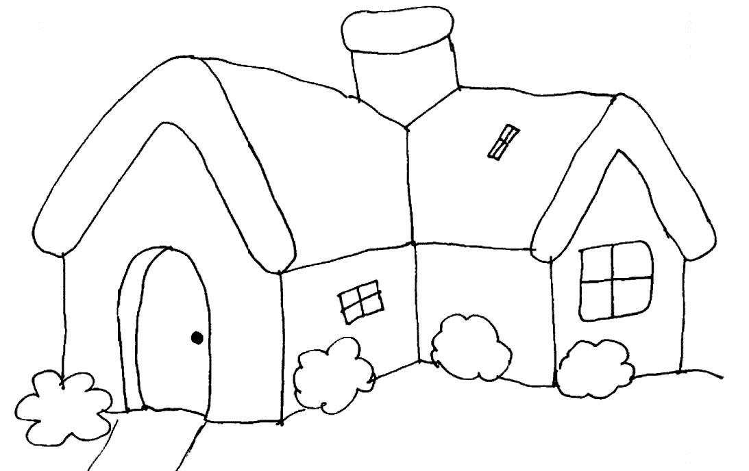 Casas para colorear for Pintar en casa