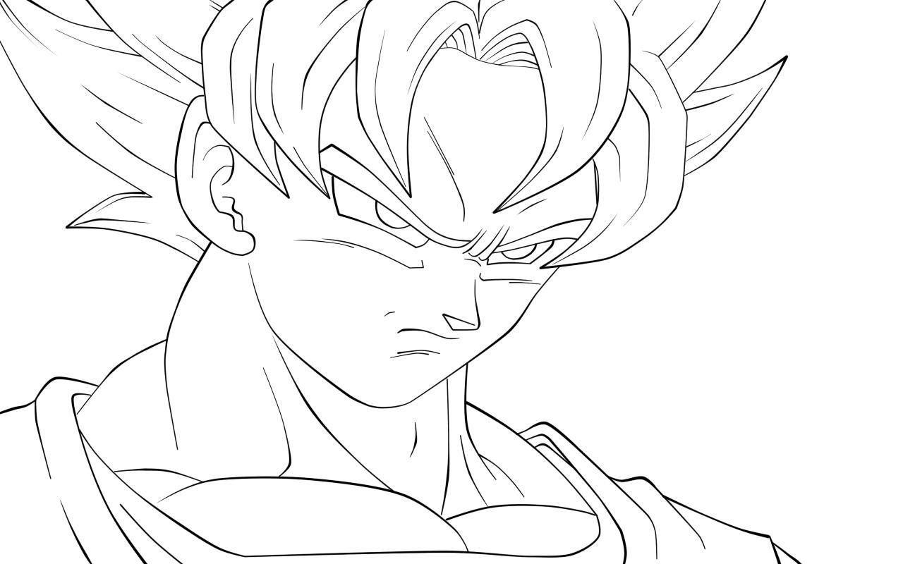 Todas Las Fases De Goku Para Colorear: Gokú Para Colorear