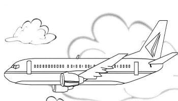 colorear avion