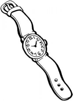 colorear dibujo de reloj