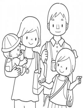 colorear familia