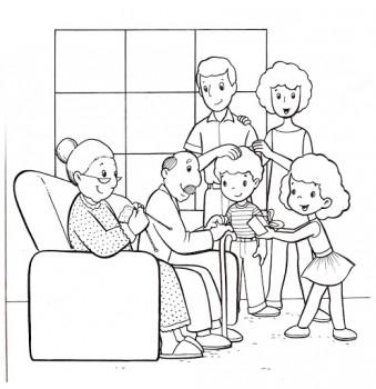 colorear familias