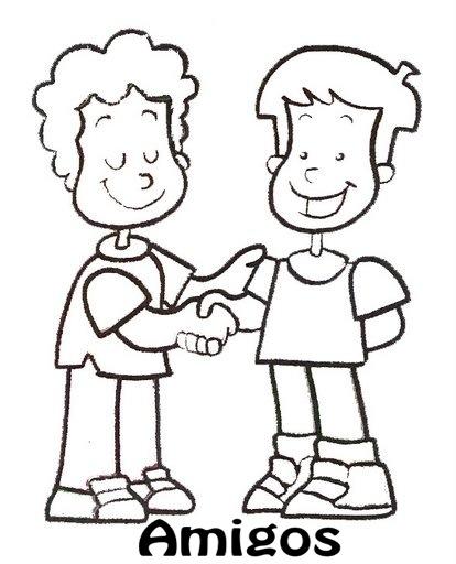 colorear imagenes de amistad