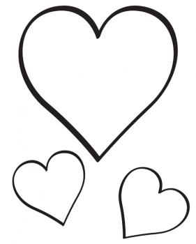 colorear imagenes de corazones