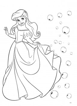 colorear juego de princesas
