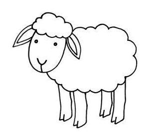 una oveja mucho ms tranquila y ensimismada es esta ya que a diferencia de otras no tiene ninguna expresin es muy sencilla dos ojos de puntitos