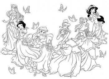 colorear princesas de disney