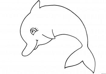 delfín para colorear