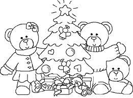dibujo de arbol de navidad para colorear