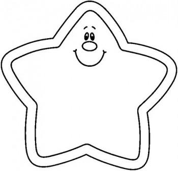 dibujo de estrella para colorear