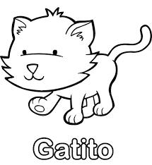 dibujo de gato para colorear