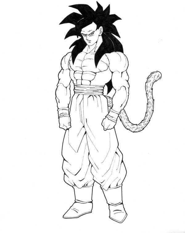 Goku ssj4 para calcar - Imagui