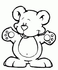 dibujo de oso para colorear