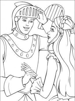 dibujo de princesas para colorear