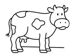 dibujo de vaca para colorear