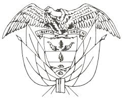 dibujo del escudo de colombia para colorear