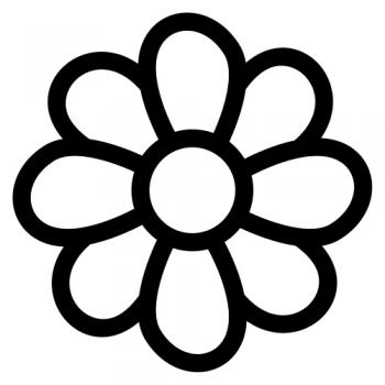 dibujo para colorear de flores