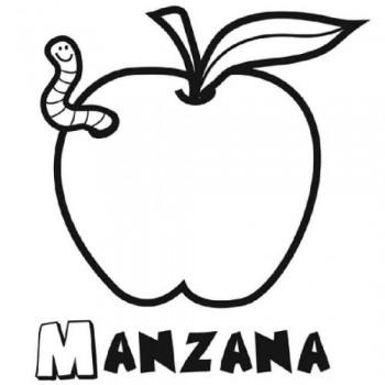 dibujo para colorear de frutas