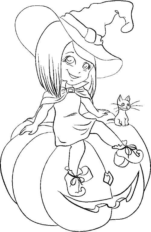 Dibujo De Calabaza De Halloween Para Pintar Y Colorear En ...