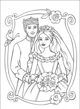dibujo para colorear de princesas