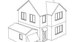 Casas para colorear