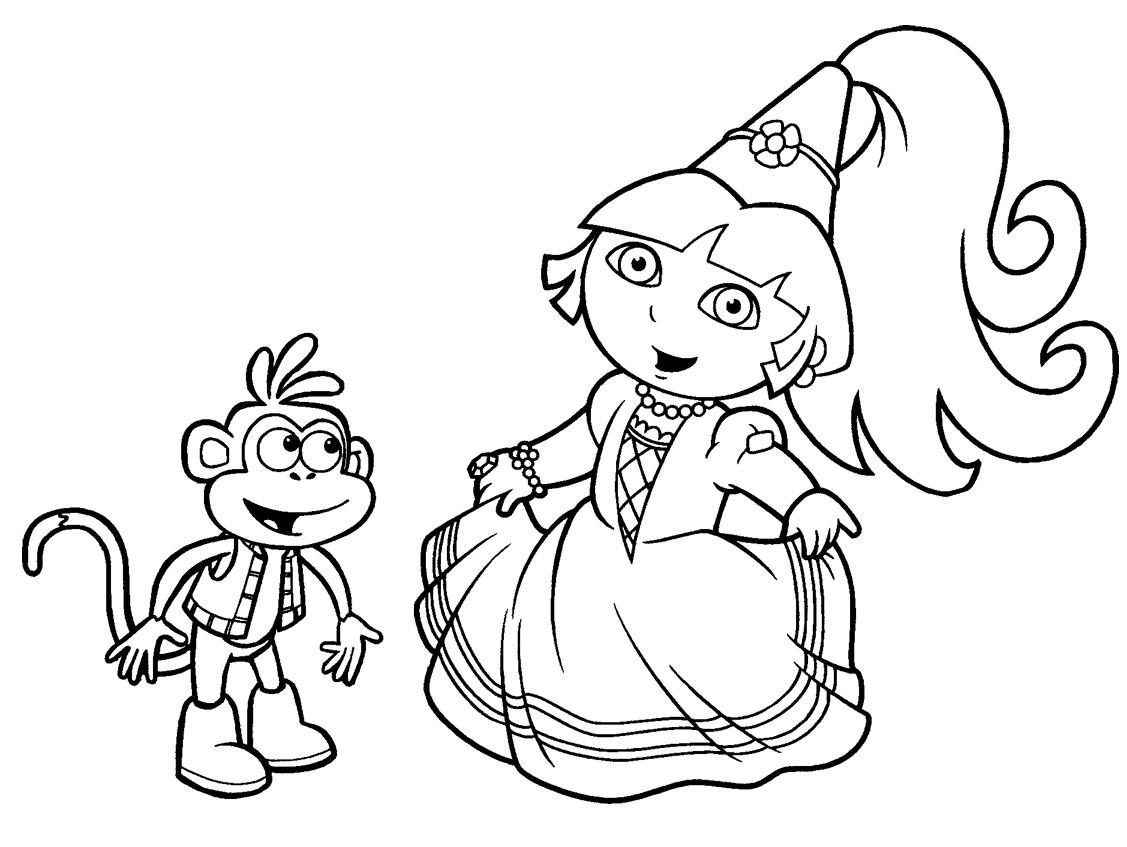 Dibujos para colorear de Dora