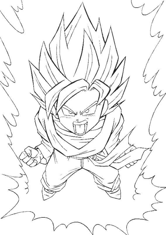 Dragon Ball Z para pintar y jugar
