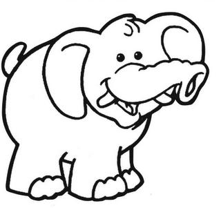dibujos de elefantes para colorear