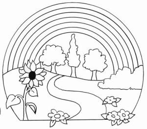 dibujos de paisajes para colorear