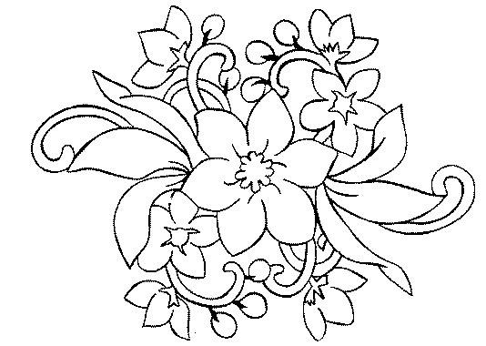 Dibujos para colorear de flores