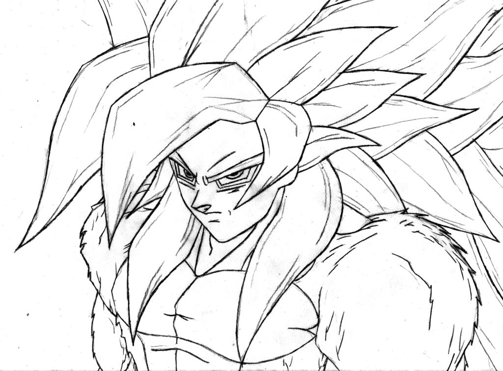 Colorear Goku Y Para Dibujos Para Colorear De Goku Ssj: Goku Ssj4 Colorear