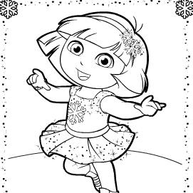 Dora, la exploradora, para colorear