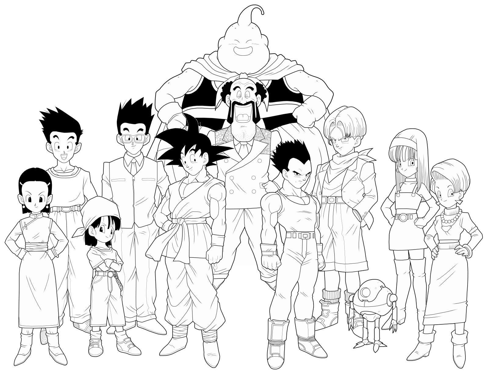 Lo Mejor De Dibujos Para Colorear De Dragon Ball Z Goku Ssj1 ...