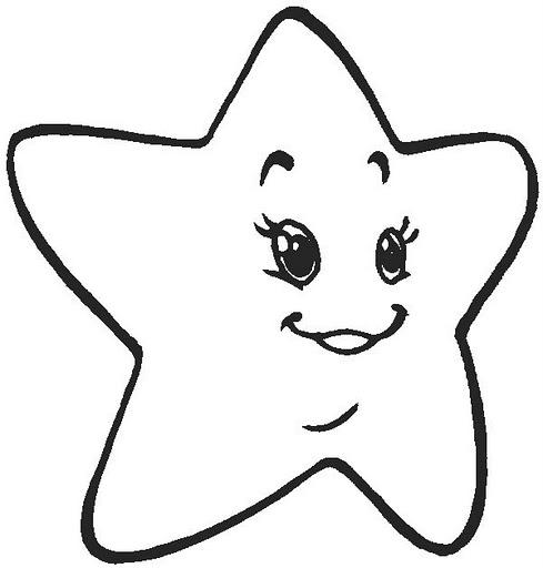 Estrella para colorear