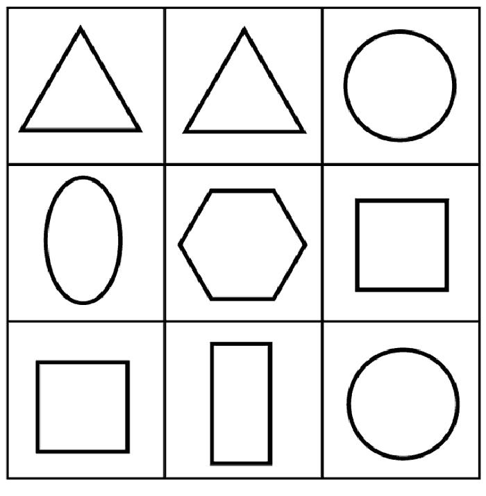 Figuras geom tricas para colorear for Cuadros con formas geometricas