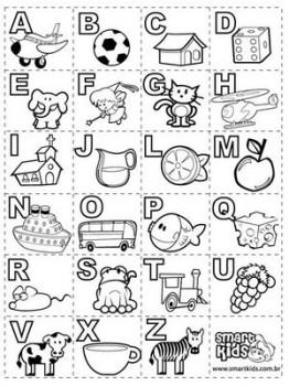 imagen de abecedario para colorear