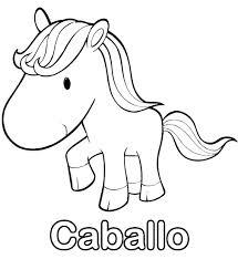 imagen de caballo para colorear